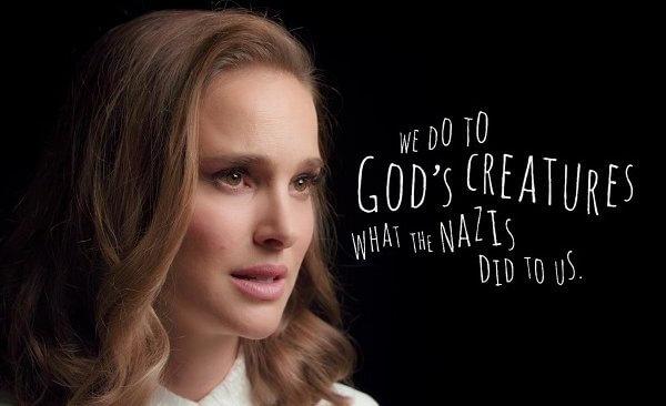 娜塔莉·波特曼最新短片致敬犹太先哲:我们对上帝的动物做了纳粹对我们做的事情